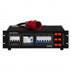 Verhuur BRITEQ PD32SH 380V Verdeler 32A inclusief Volt en Amperemeter per fase