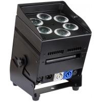 Verhuur JB Systems Accu color, accu led lamp RGBWA  (wireless) dmx - zwart