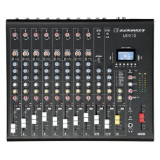 Verhuur Audiophony MPX12  - 12 channels Mixer with Compressor, Effects and USB/ SD/BT Player