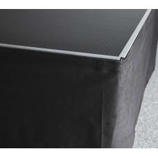 Verhuur Podium afrok zwart Hoogte 20cm Lengte 200cm
