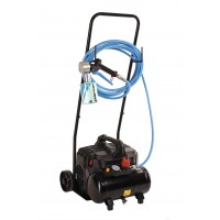 Verhuur Sanifyer Pistool + Compressor met trolley + Rubberen slang 6m