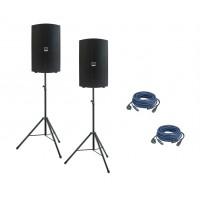 """Verhuur Audiophony 2x ATOM15A 15"""" 400W luidspreker met DSP op statief"""