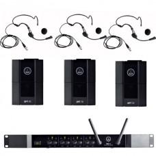 Verhuur AKG DMS70Q + 3x Beltpack + headset