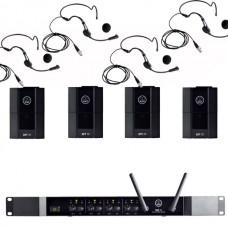 Verhuur AKG DMS70Q + 4x Beltpack + headset