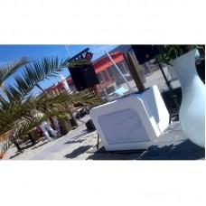 Verhuur MIAMI stijlvol wit DJ Meubel inclusief apparatuur